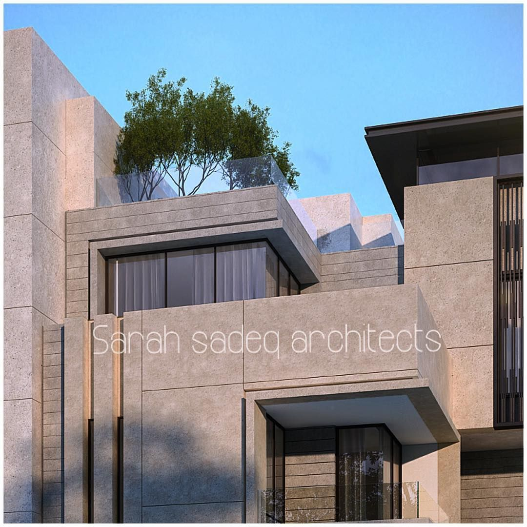 "Private Villa Sarah Sadeq Architects Kuwait: ""Stone Art .... 500 M ... Private Villa , Kuwait , Sarah"