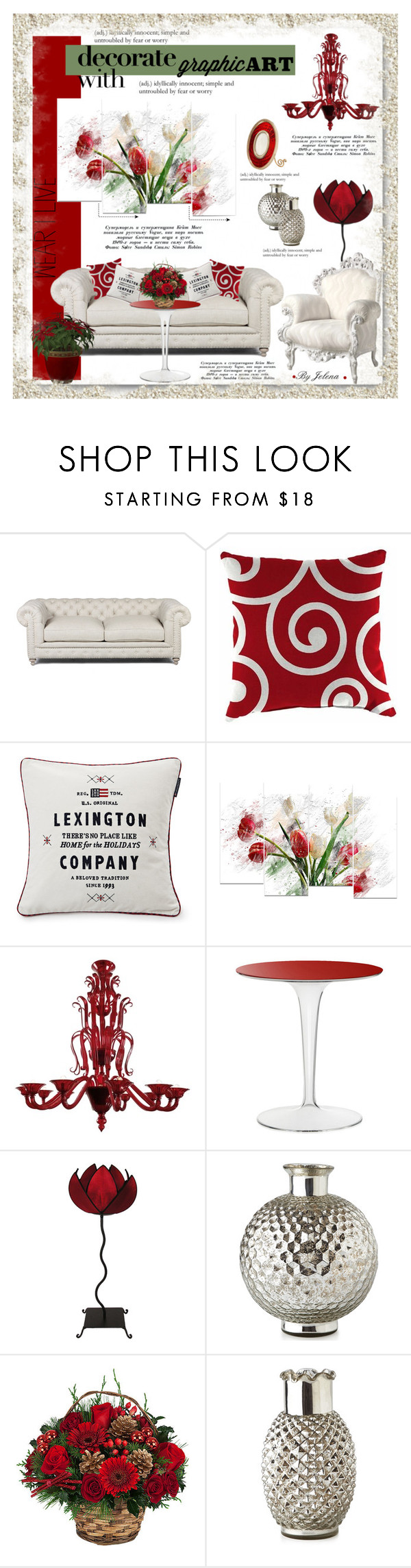 """Decorate With Graphic Art"" by jelenalazarevicpo ❤ liked on Polyvore featuring interior, interiors, interior design, home, home decor, interior decorating, Jordan Manufacturing, Lexington, Venini and Kartell"