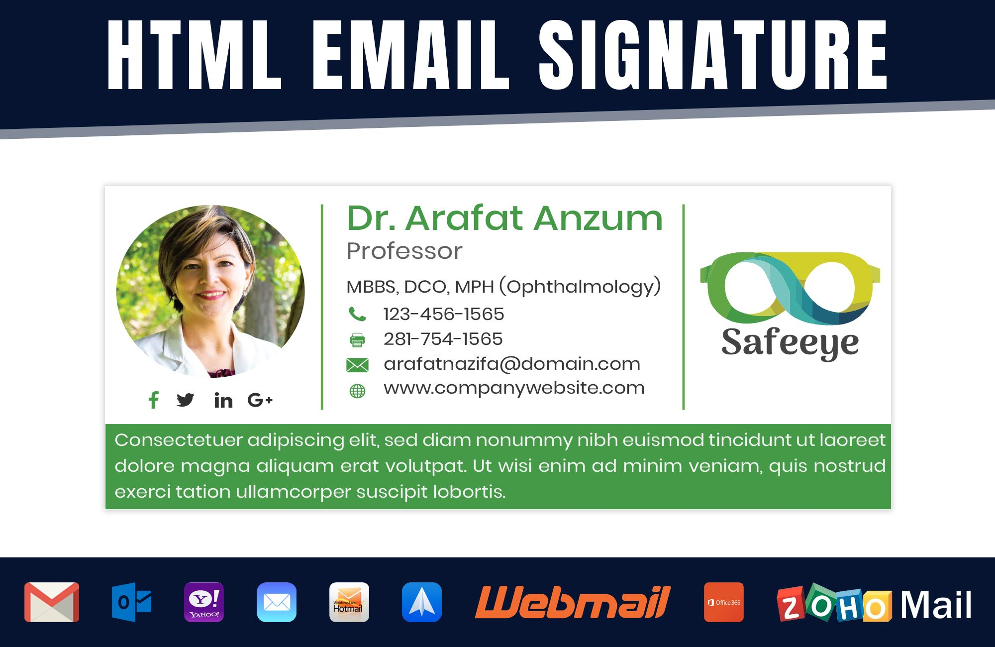 I can code a professional HTML email signature for Gmail