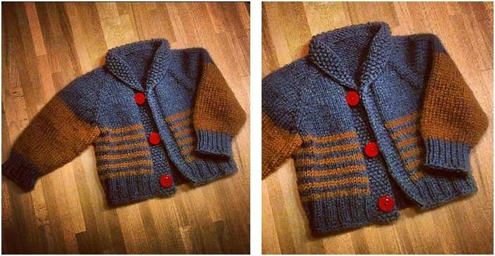 Chunky Knitted Baby Cardigan [FREE Knitting Pattern ...