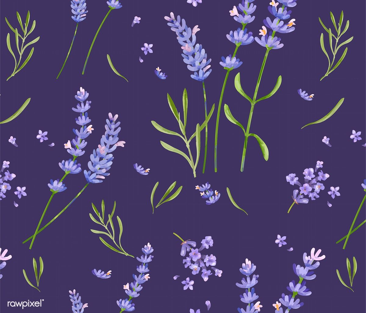 Download Premium Vector Of Hand Drawn Lavender Flower Pattern 421560 Flower Illustration Flower Drawing How To Draw Hands