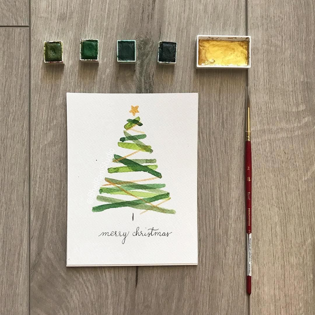 Christmas Cards Drawing Handmade Christmastime Christmasgift Christmasiscomin In 2020 Watercolor Christmas Cards Christmas Cards Drawing Watercolor Holiday Cards
