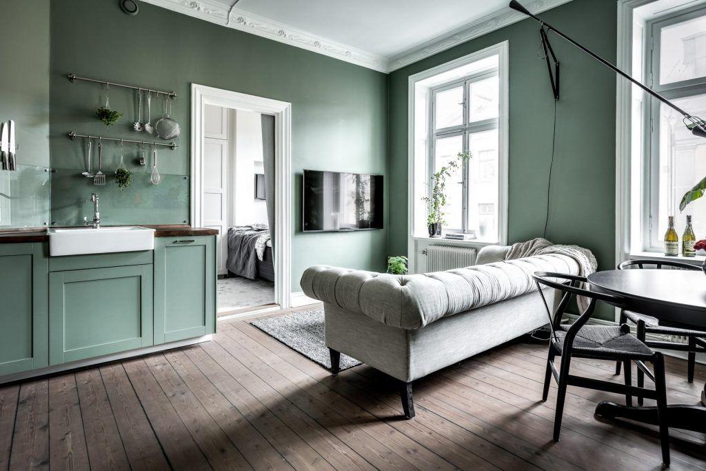 groene-muren-woonkamer - w o o n k a m e r   Pinterest