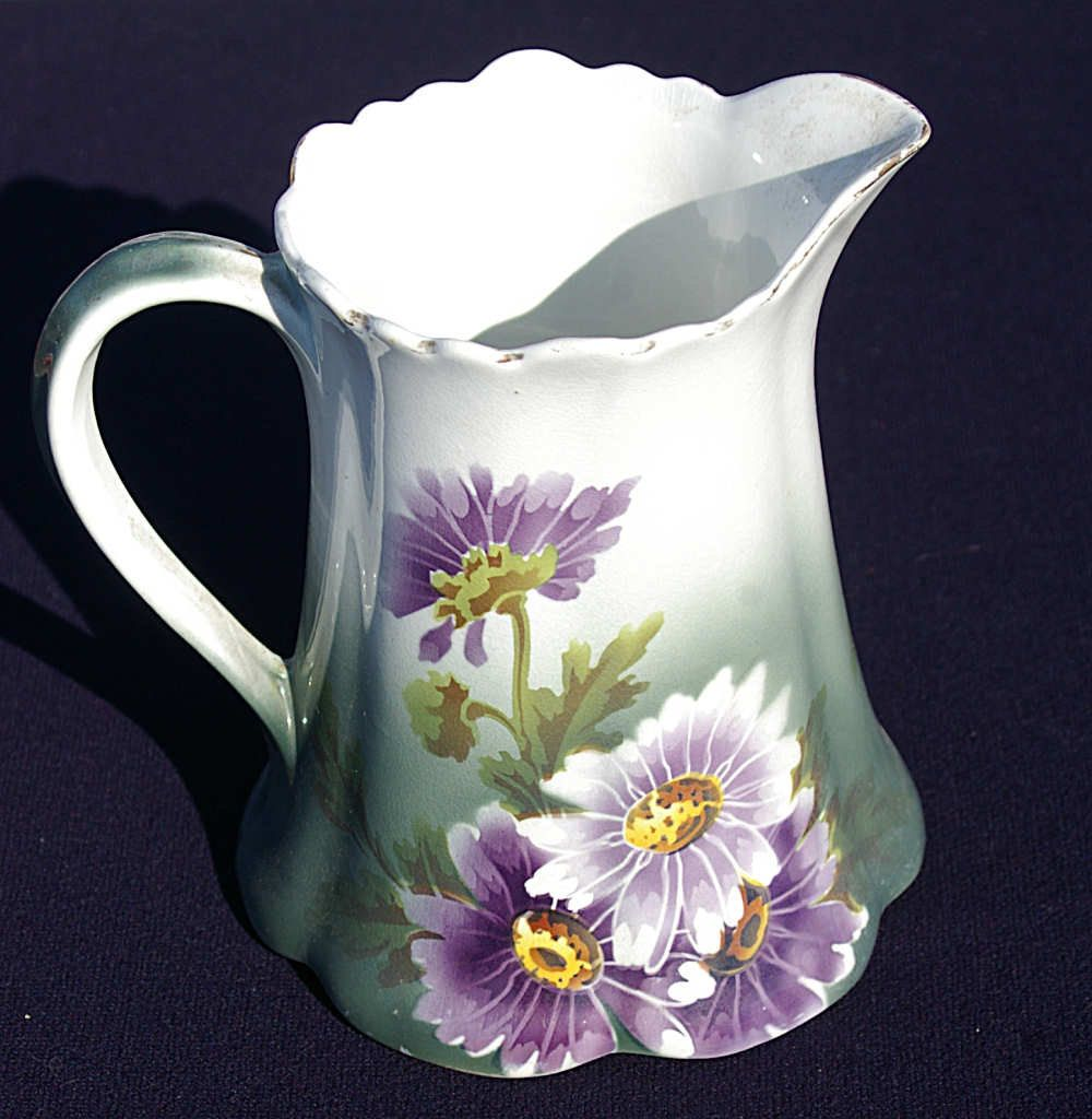 1910 K & G Lunéville France Faience Pitcher. $125.00, via Etsy.