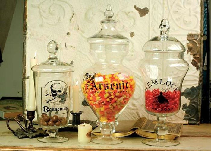 halloween apothecary jar ideas Halloween Cloches and All That - halloween jar ideas