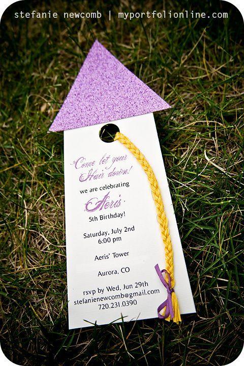 Tarjeta Enredados Fiesta de princesa Pinterest Rapunzel