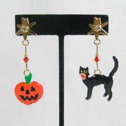 Jack O' Cat Snack Earrings