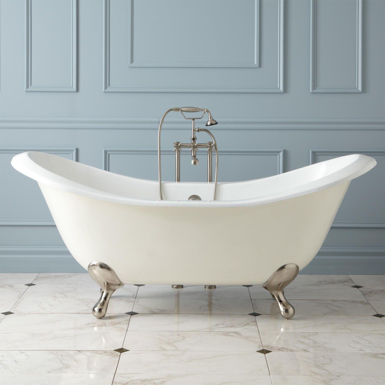 71 Aubretia Cast Iron Double Slipper Tub Bathroom With Images