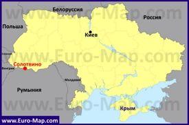 Solotvino Na Karte Ukrainy Karta Karty Goroda Ukraina