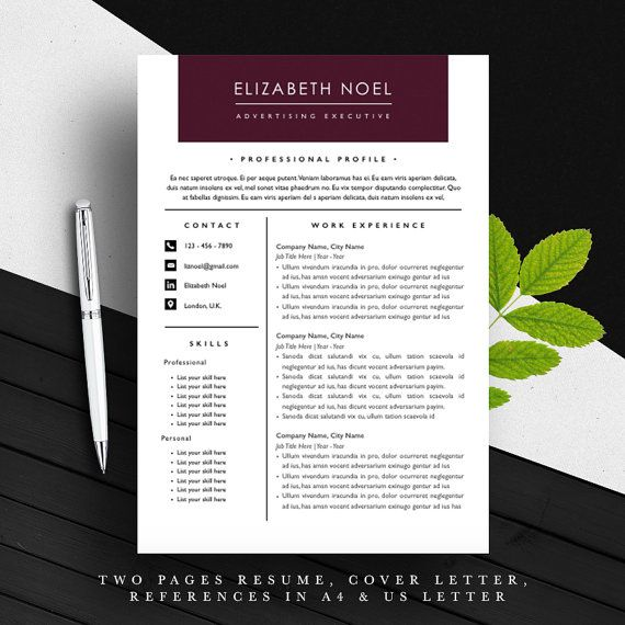 Only One Left  Professional Resume Template  A And Us Letter