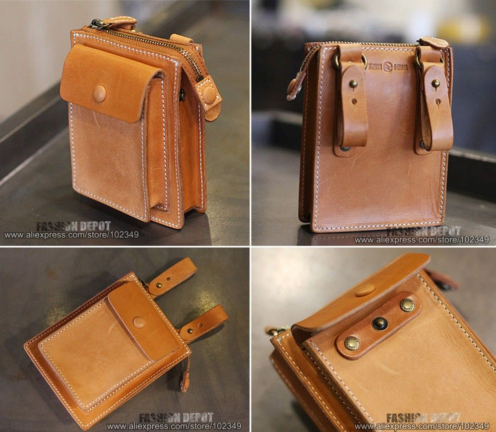 e02043e27e06f5 Aliexpress.com : Buy Designer First Grade Genuine Leather Waist Bag  Vegetable Tanned Waist Leather Wallet Purse Belt Pouch Men Women First  Grade Cow from ...
