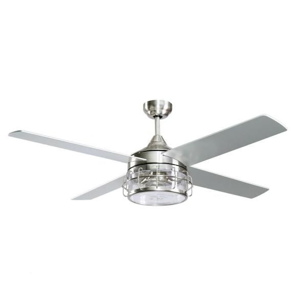 Parrot Uncle Kavir 52 In Indoor Chrome Downrod Mount Industry Chandelier Ceiling Fan With Light And In 2020 Ceiling Fan With Light Ceiling Fan Ceiling Fan Chandelier