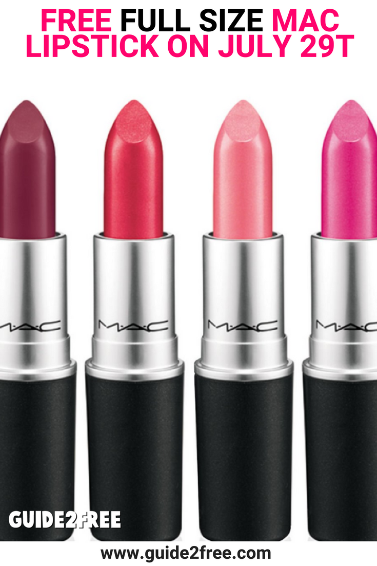 FREE Full Size MAC Lipstick TODAY