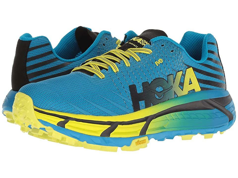 Hoka One One Evo Mafate (Cyan/Citrus) Men's Running Shoes. Named after an infamous location at one of th… in 2020 | Running shoes for men ...