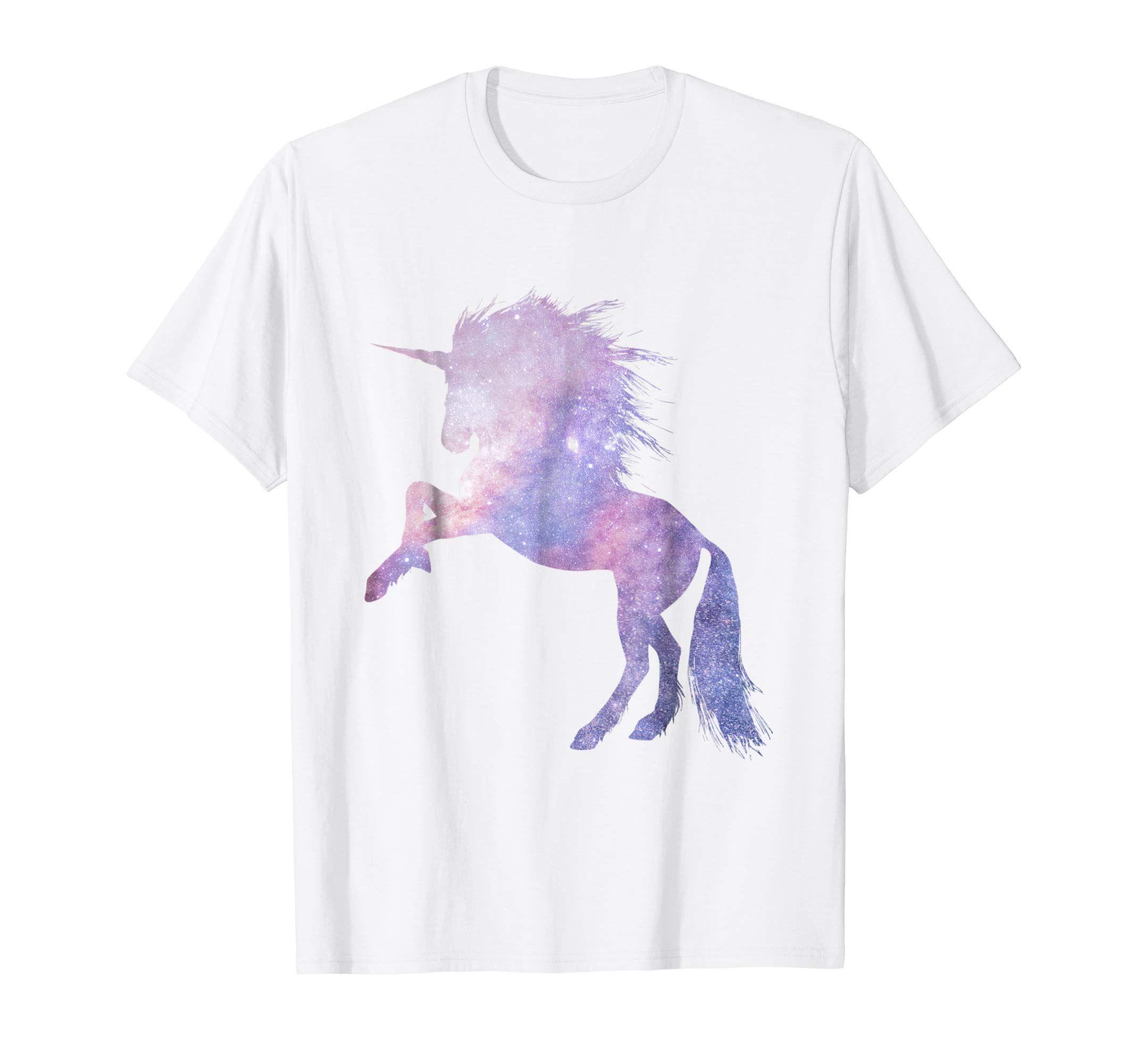 New Junior/'s Moon Unicorn T Shirt Women/'s Fantasy Magical Horse Pony Moonlight