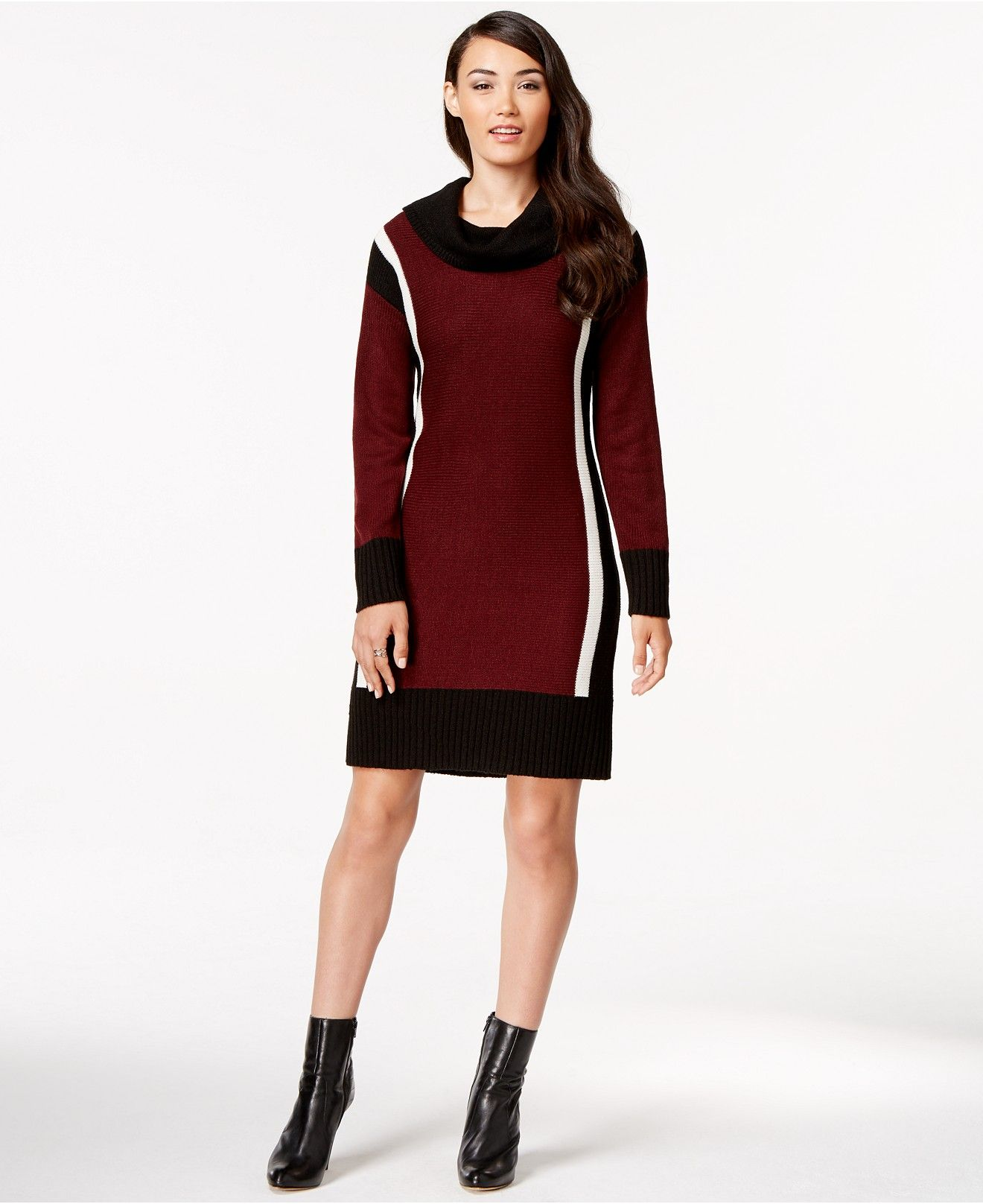 Ny Collection Colorblocked Cowl Neck Sweater Dress Dresses Women Macy S Cowl Neck Sweater Dress Sweater Dress Cowl Neck Sweater [ 1616 x 1320 Pixel ]