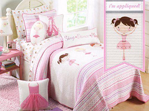 Toddler Bedding Set Dancer Ballerina 2pc Quilt Set Pink