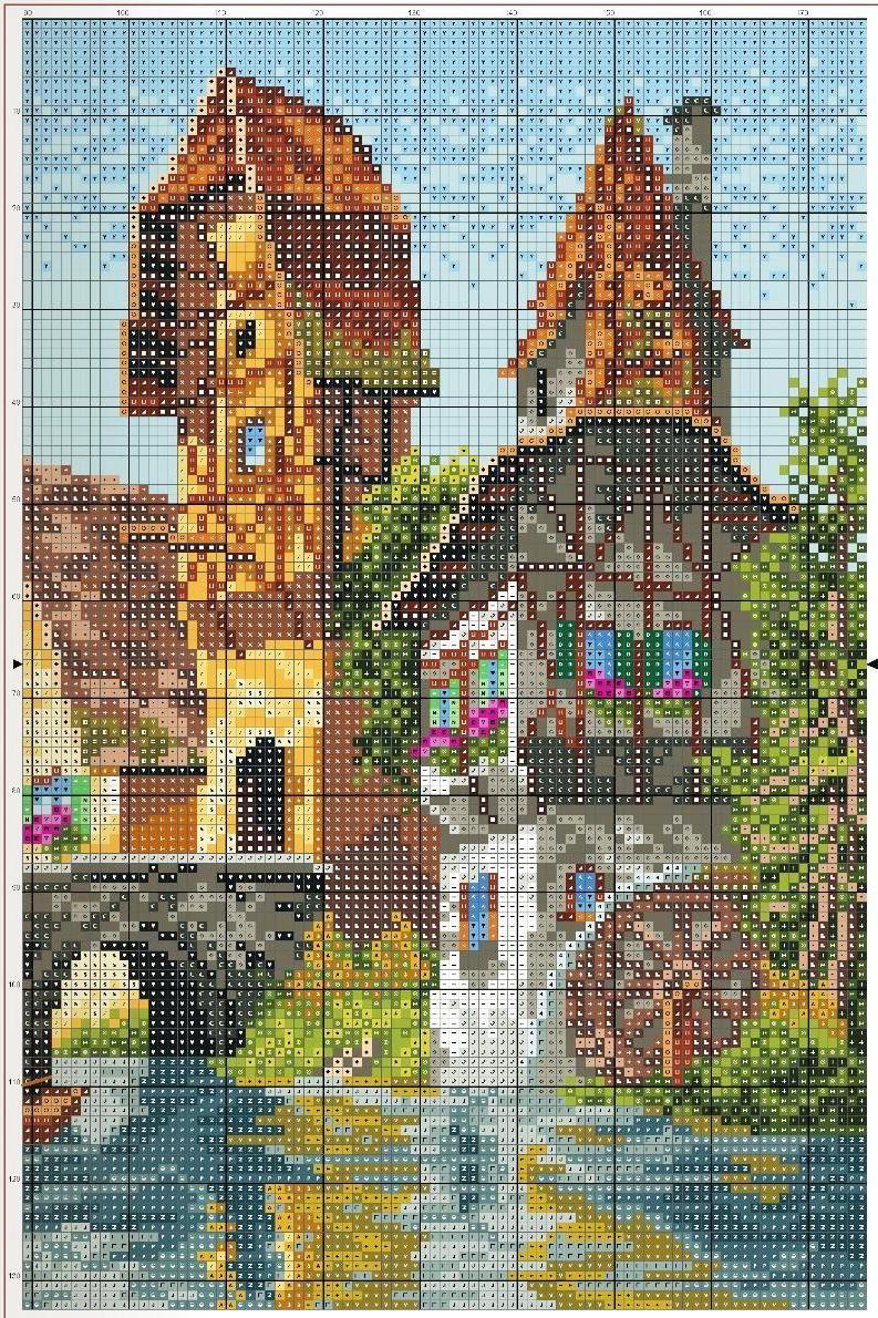 Graficos punto de cruz gratis cuadros casas 30 - Cuadros de casas ...