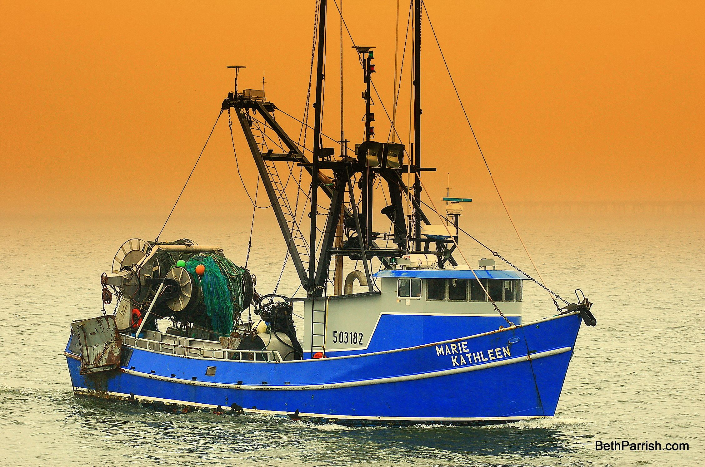 The Commercial Fishing Vessel Marie Kathleen Home Port Is Astoria