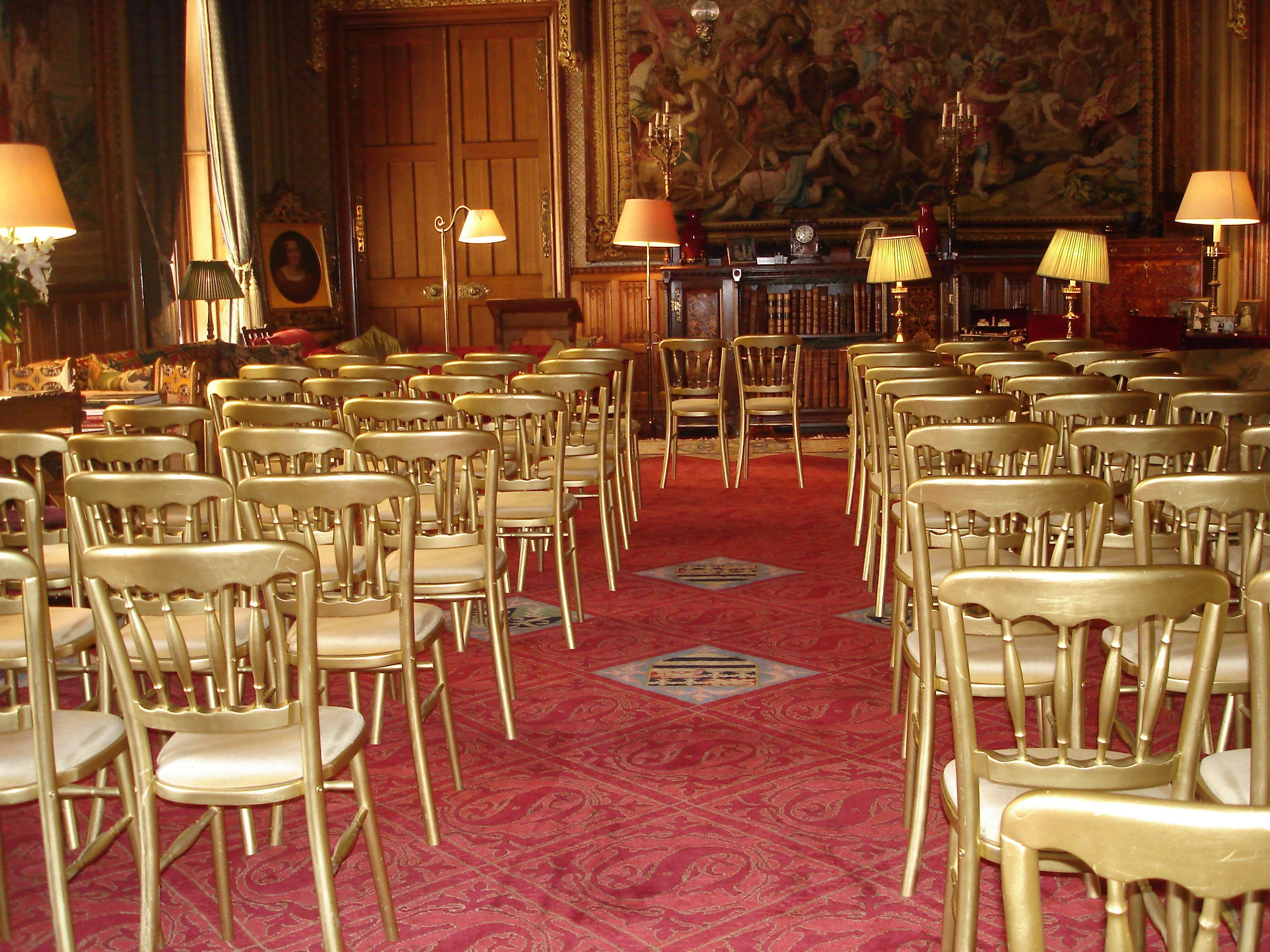 The Gothic Drawing Room set up for a Civil Ceremony at ...