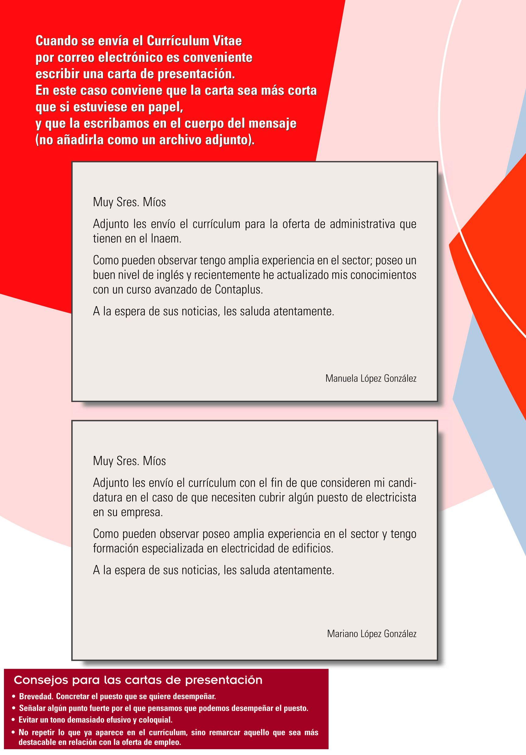 Carta de presentación (parte 2) | Empleo 2.0. Cartas y tarjetas de ...