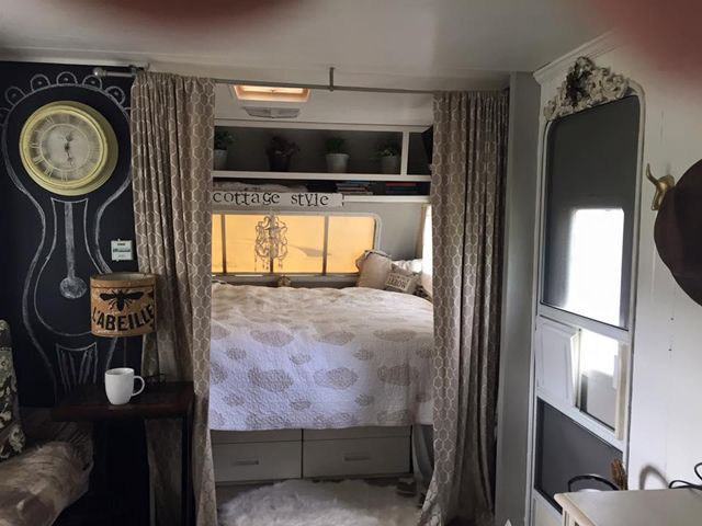 Travel Trailer Turned Tiny Home – Cottage Style | DIY | Pinterest ...