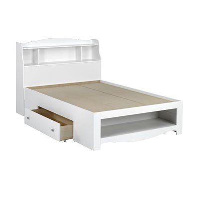 Nexera Dixie Storage Bed with Bookcase Headboard 313SB