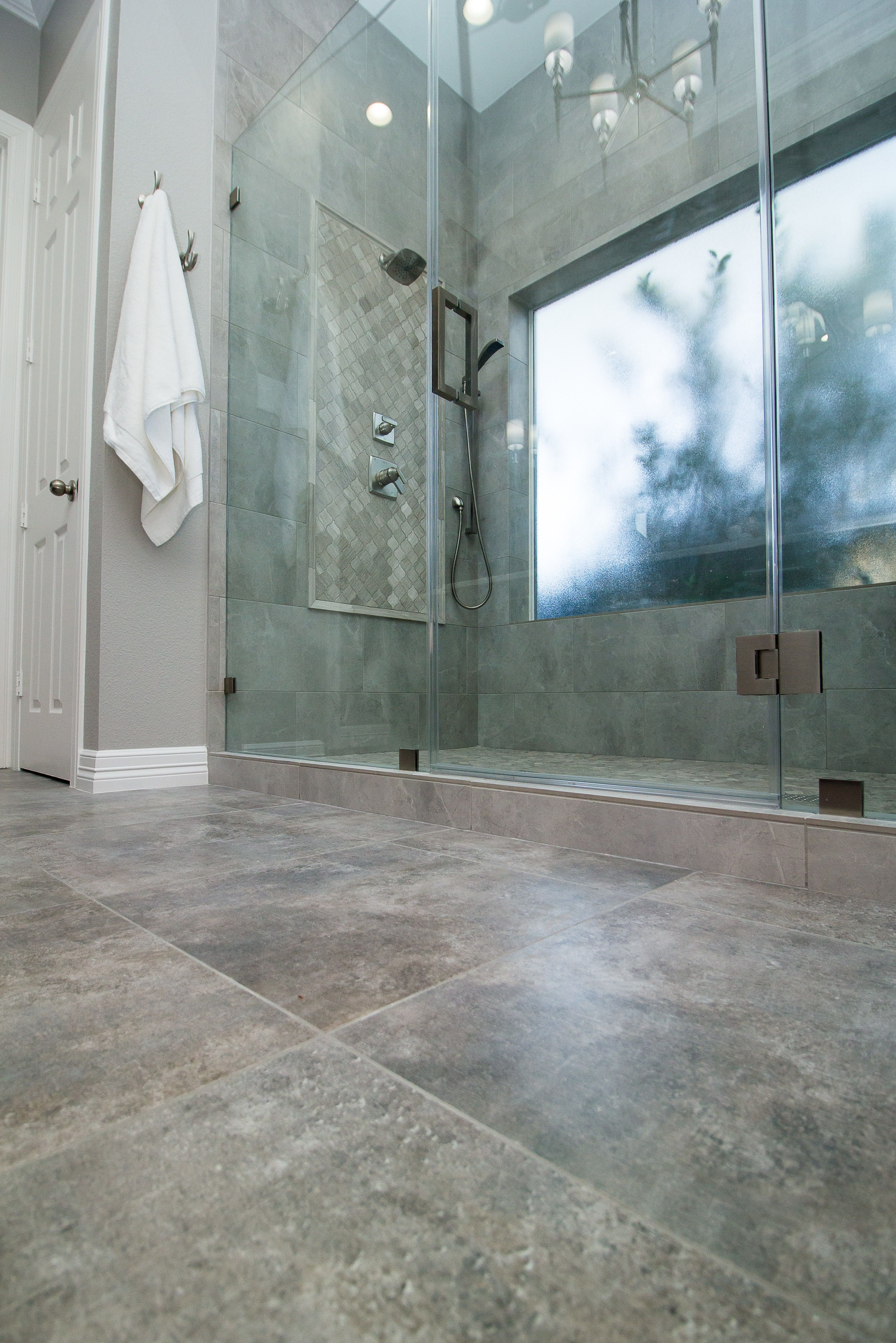 Walltile Wednesday Features A Cool Installation Of Our Chiado Midaetro Cream Arabesque By Premier Kitchen And Bath Out Houston Texas
