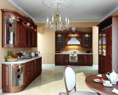 100 Küchen Designs U2013 Möbel, Arbeitsplatten Und Zahlreiche  Einrichtungslösungen   Holz Kronleuchter Altmodisch Vintage Gestaltung