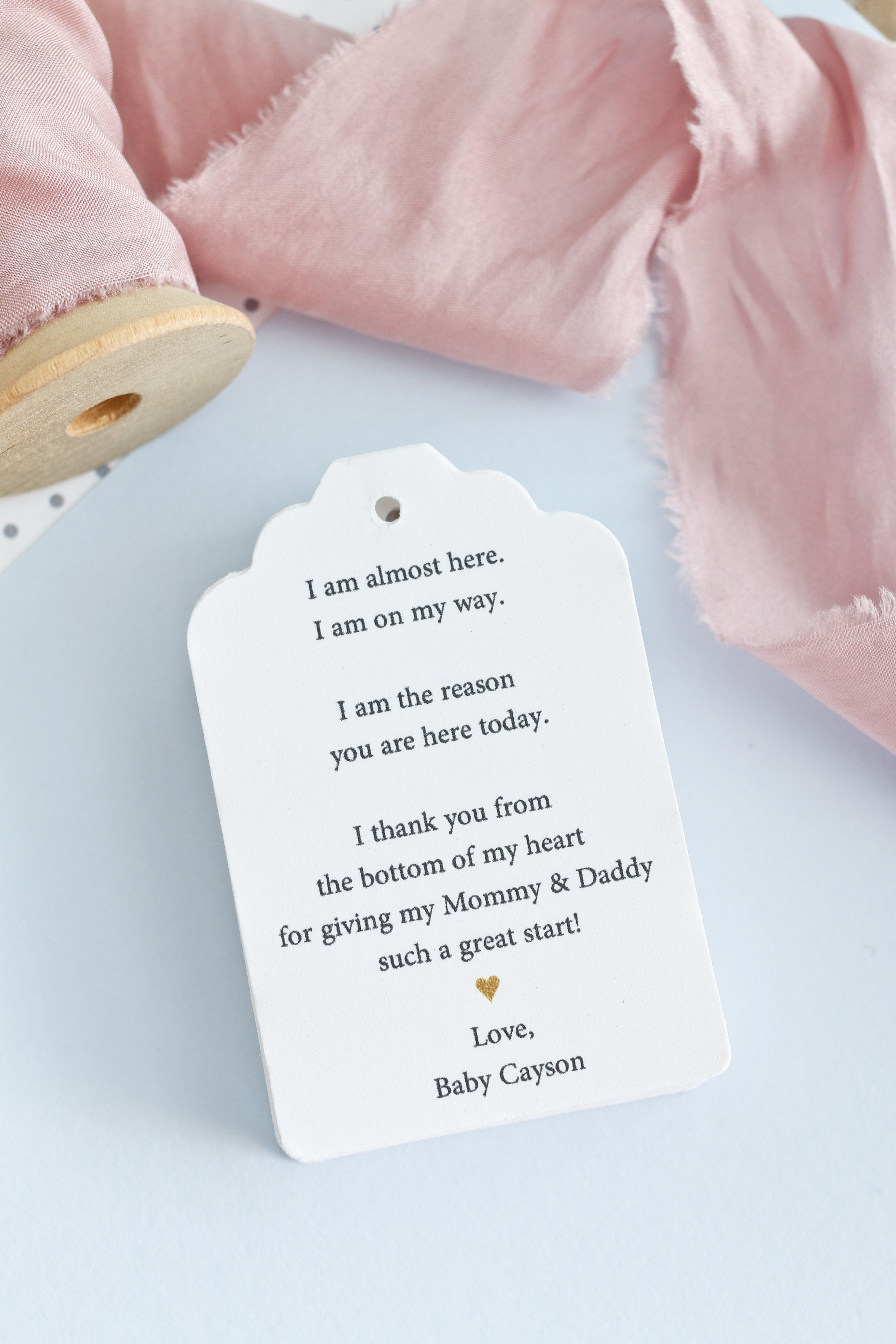Baby Shower Favor Tags A Note From Baby Favor Tags Baby Shower