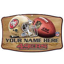 San Francisco 49ers Home Decor Personalized Wood Signs Frames Wall Art