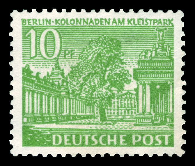 Deutsche Post Berlin 1949 Kolonnaden am Kleistpark in