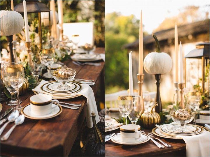 Lovely fall and Thanksgiving table setting ideas and decorations. Click to view DIY instructions!