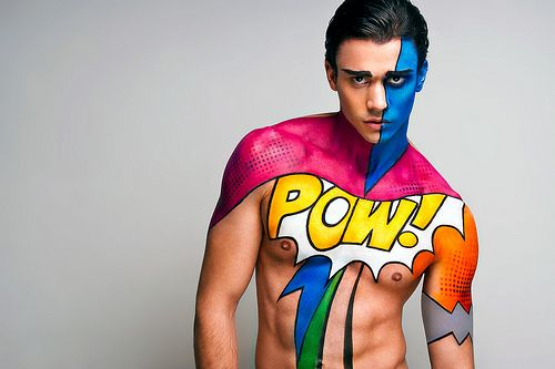 Feeling Like A Comic 2 Body Painting Men Body Art Painting Body Painting