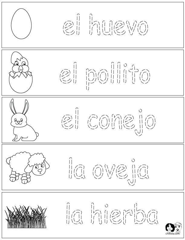 Spring Printouts Spanish ~ Spanish for Kids ~ http://www.chillola ...
