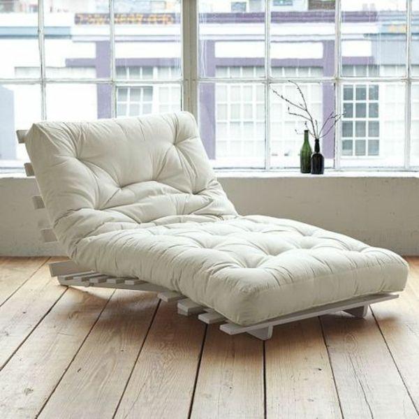 relaxliegen wohnzimmer weiß einrichtungsideen lounge möbel ...