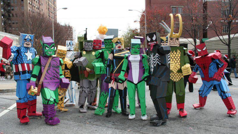 Cardboard marvel cosplay marvels new moneysaving