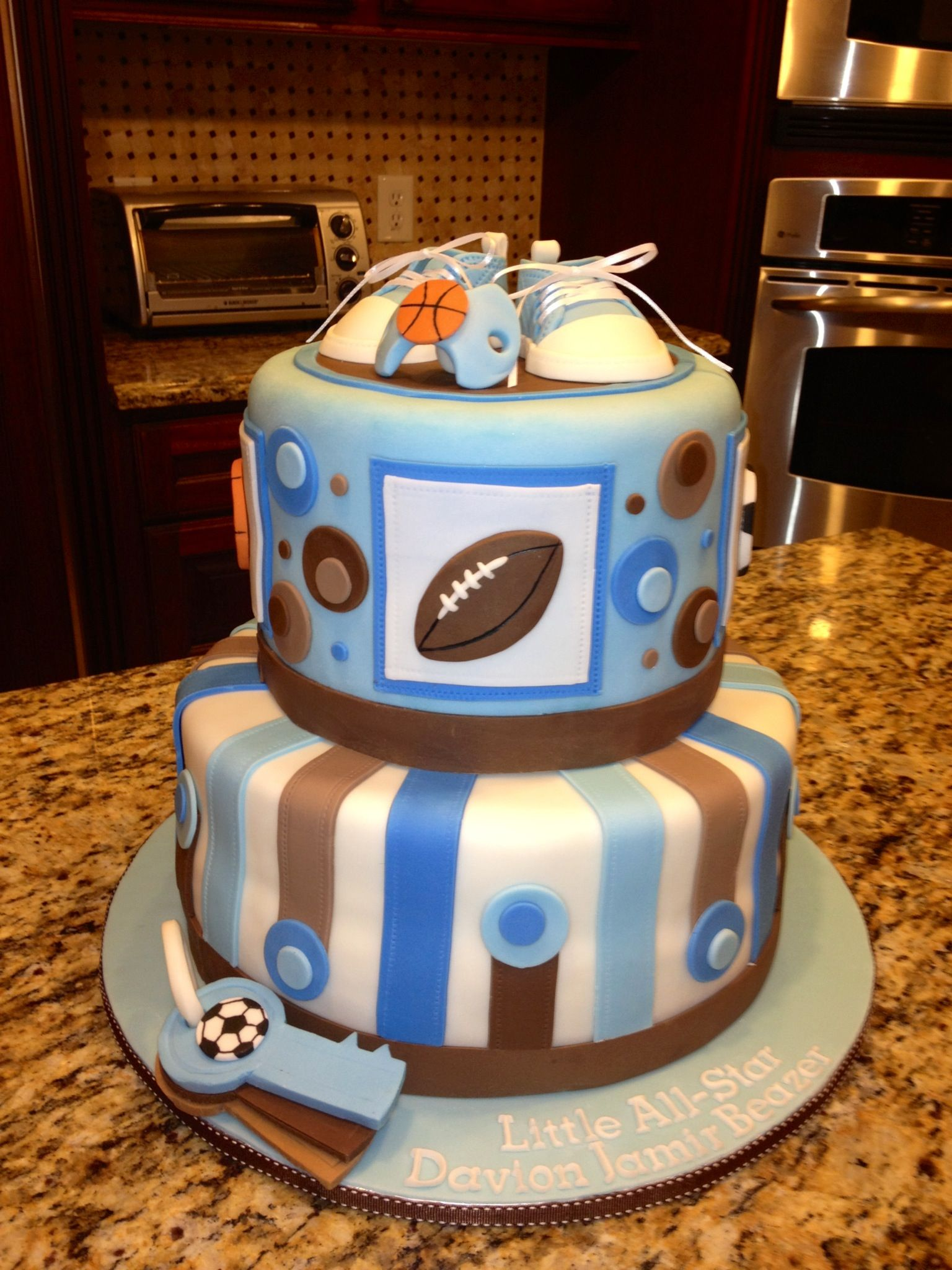 AllStar Baby Shower Cake kakes Pinterest Star baby