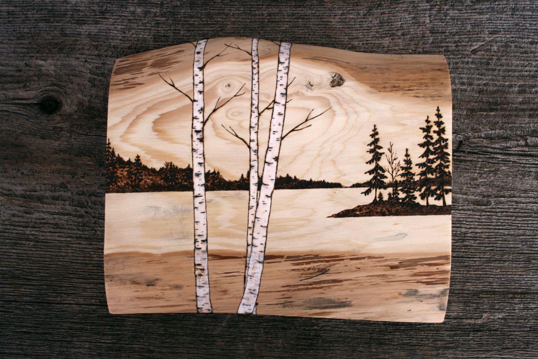 Перенести изображение на дерево для выжигания