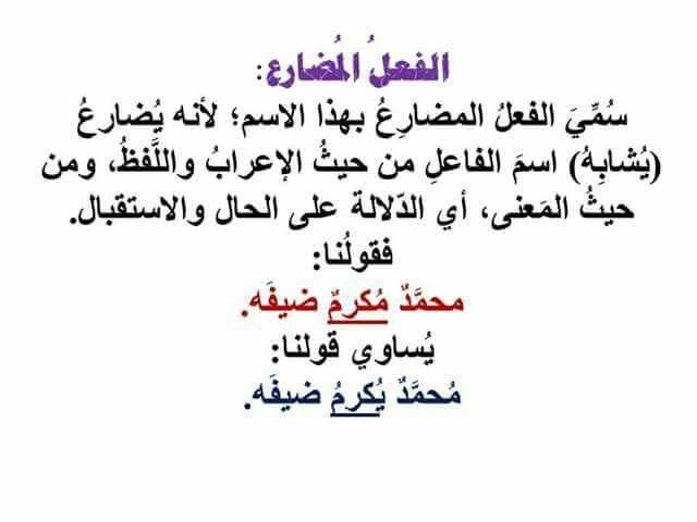 الفعل المضارع Arabic Calligraphy Calligraphy