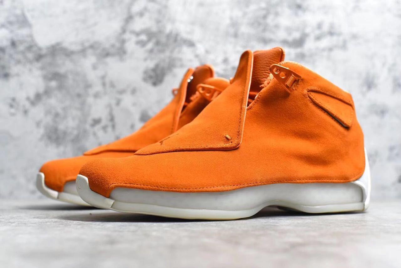 """0ee75ad4fe6 Air Jordan 18 """"Orange Suede"""" Campfire Orange/Campfire Orange-Sail AA2494-801"""