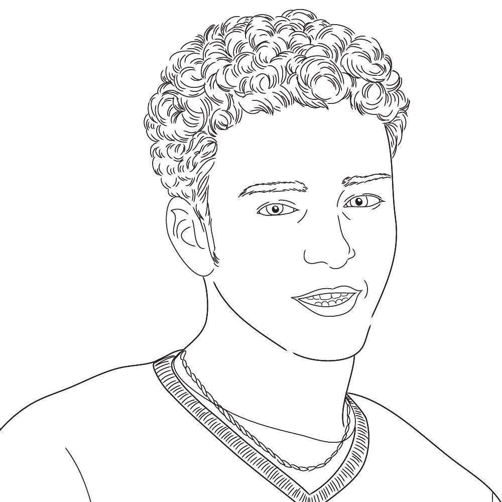Justin Timberlake coloring page PreschoolSpecial Needs