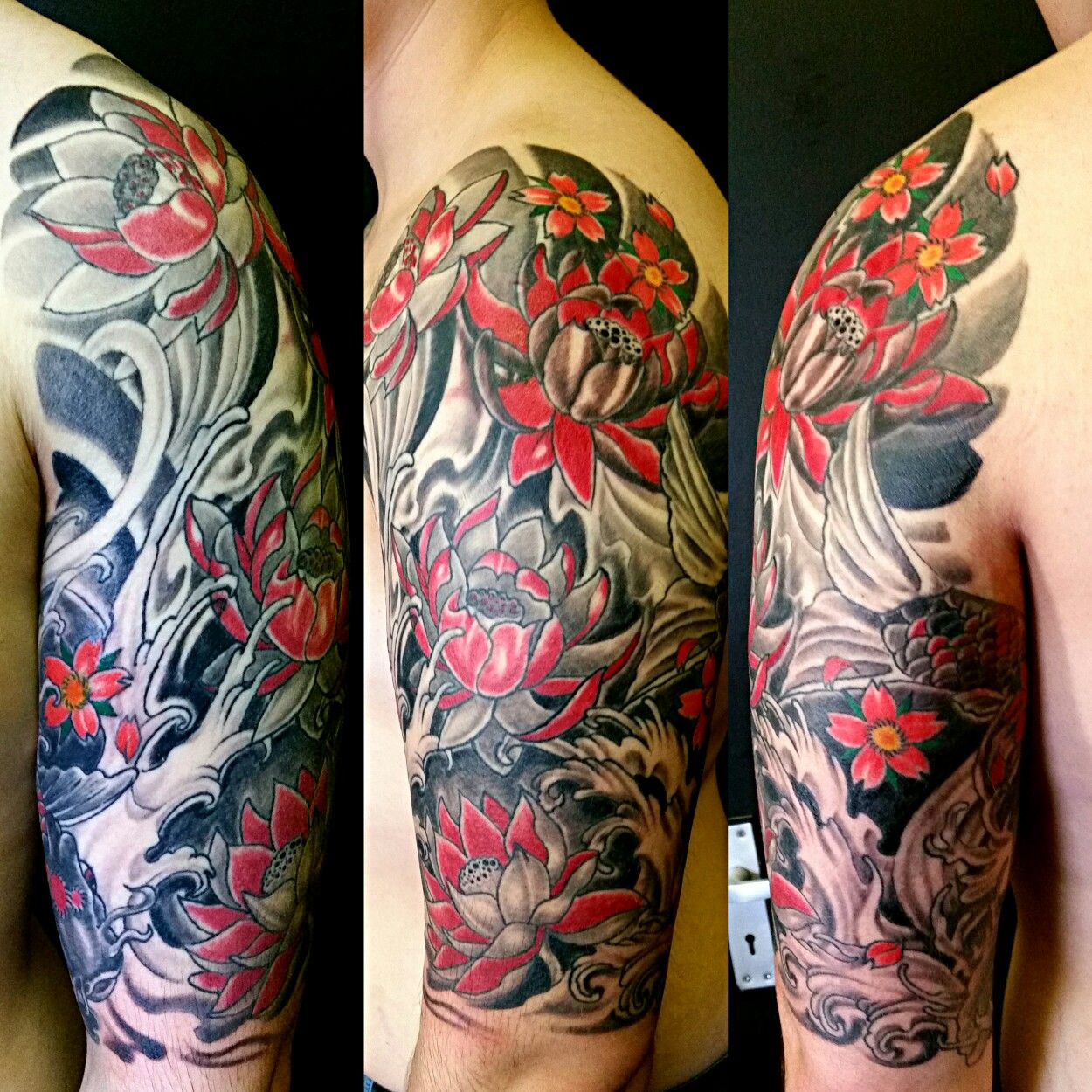 Top Arm Part Of Irezumi Traditional Japanese Half Sleeve Freehand