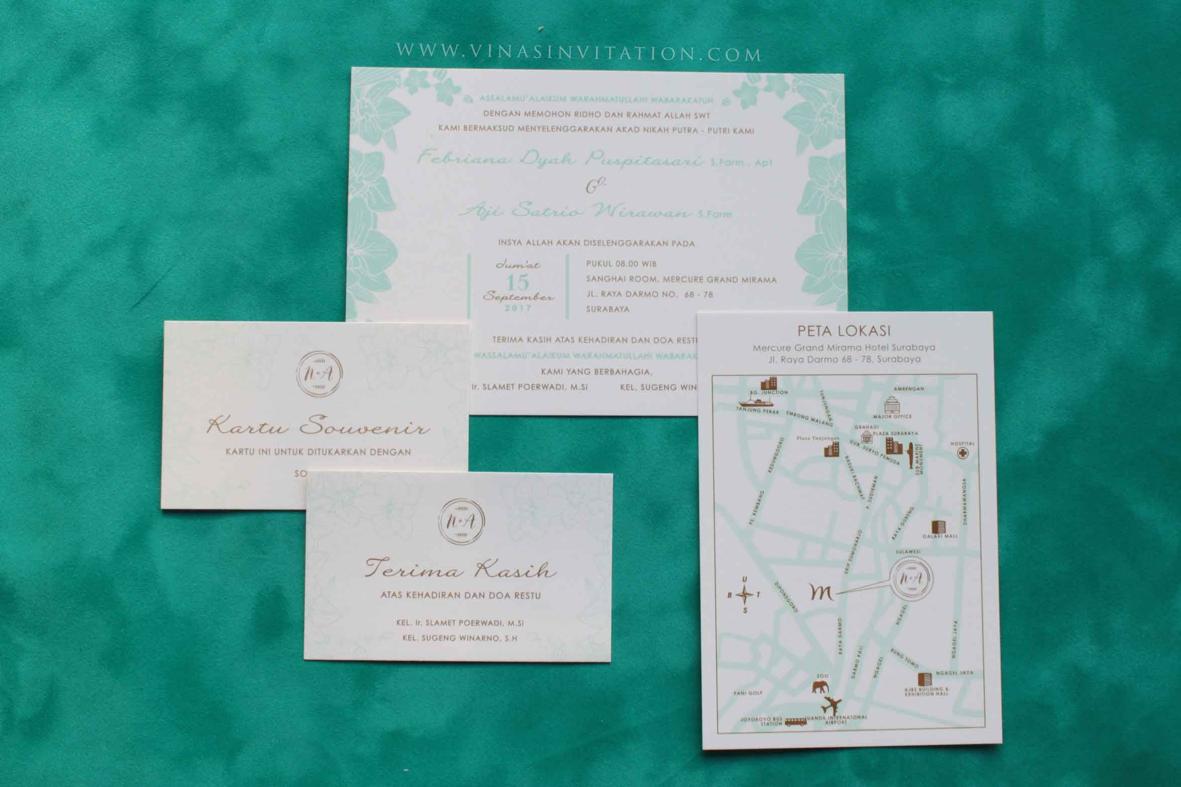 Vinas invitation. custom invitation.Indonesian wedding. wedding ...