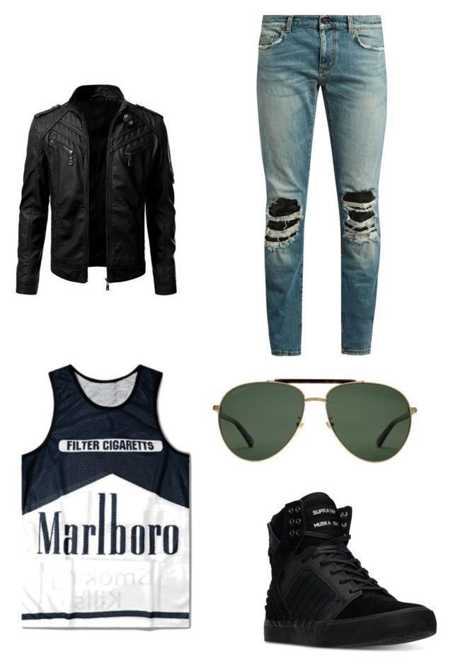 """""""Marlboro"""" by zyontayor on Polyvore featuring Yves Saint Laurent, Supra, Gucci, men's fashion and menswear"""