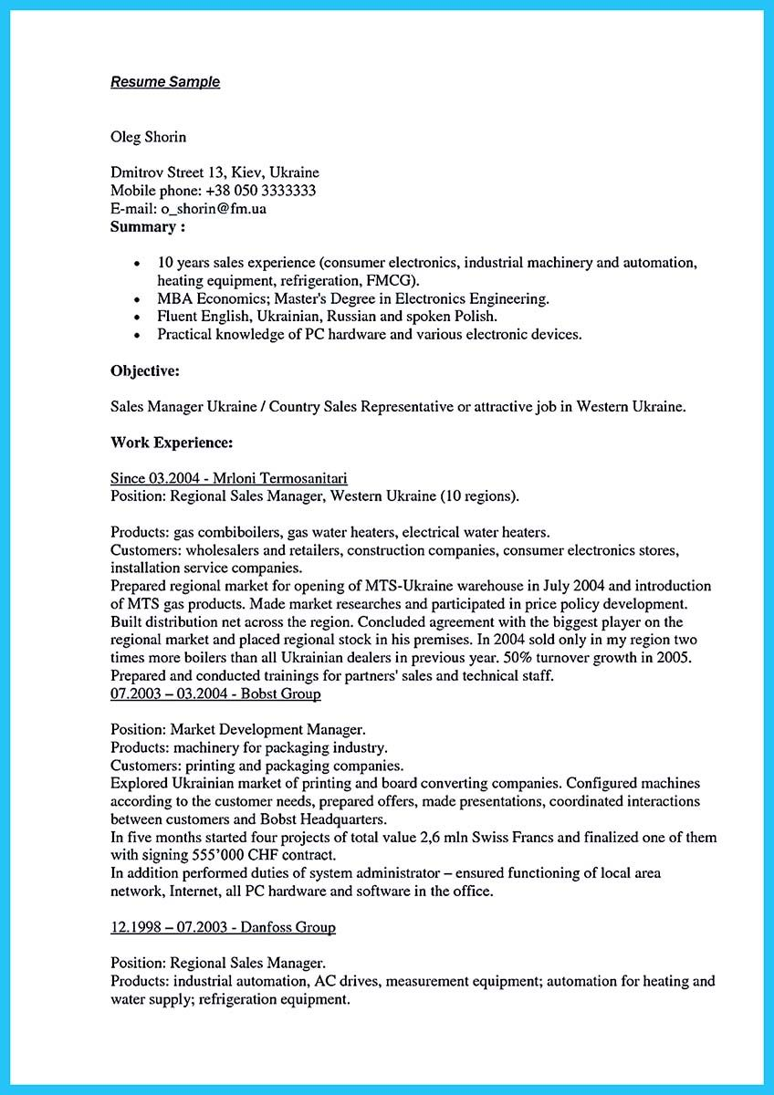 Sales Resume Sample. Catering Sales Manager Resume Template Sales ...