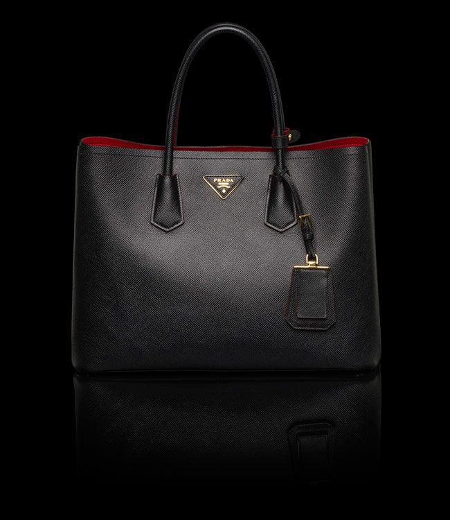 6c972fe80138 Louboutin meets Prada saffiano leather