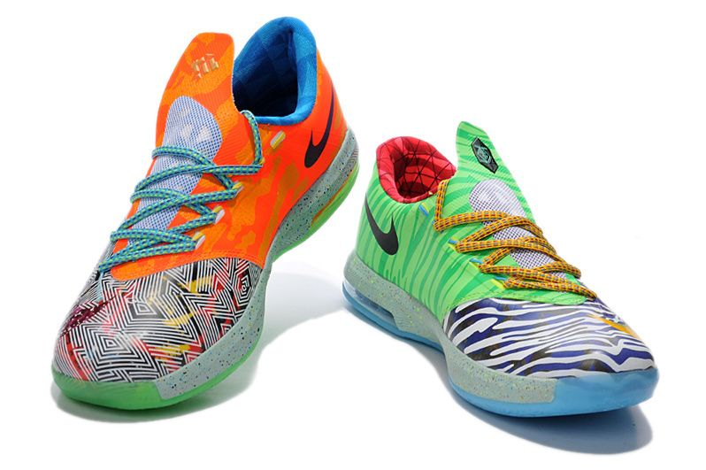 Buy Cheap Nike KD 6 2014 Limited edition Grey Green Blue Mens Shoes