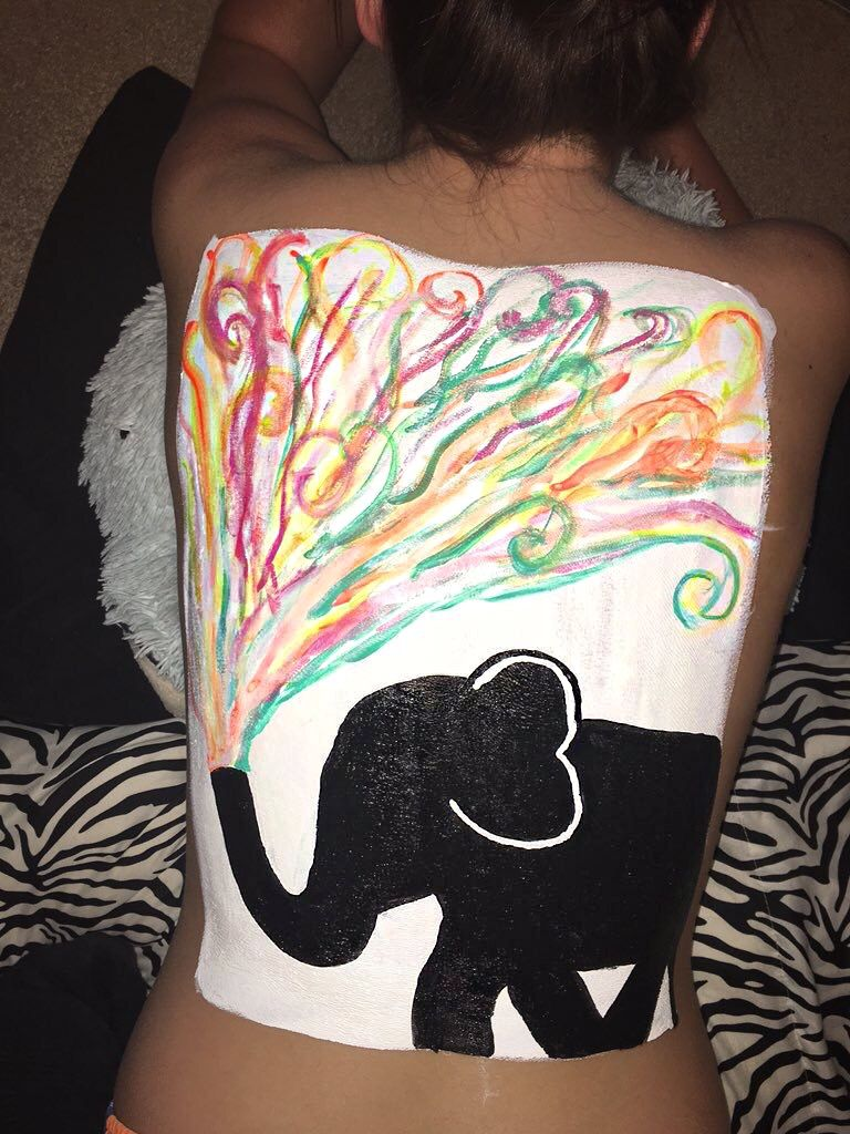 Back Painting Body Painting Body Art Painting Body Art Painting Woman