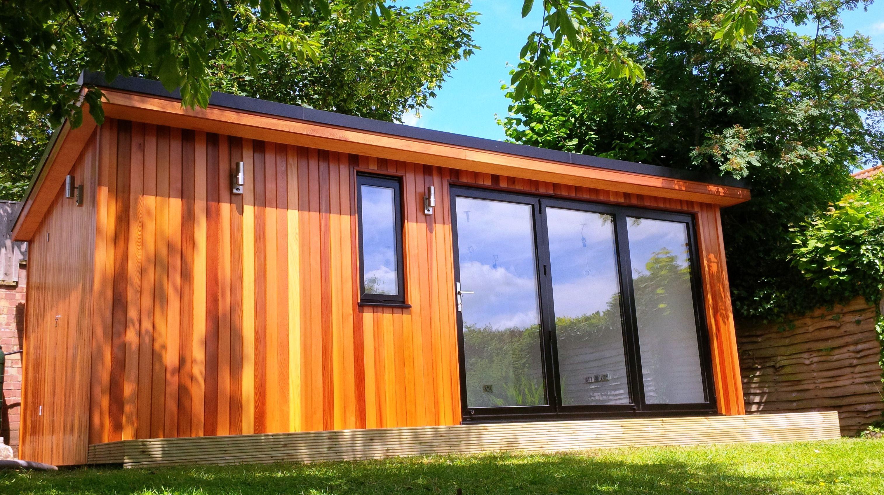 Garden room using western red cedar no 2 clear better for Sips garden buildings
